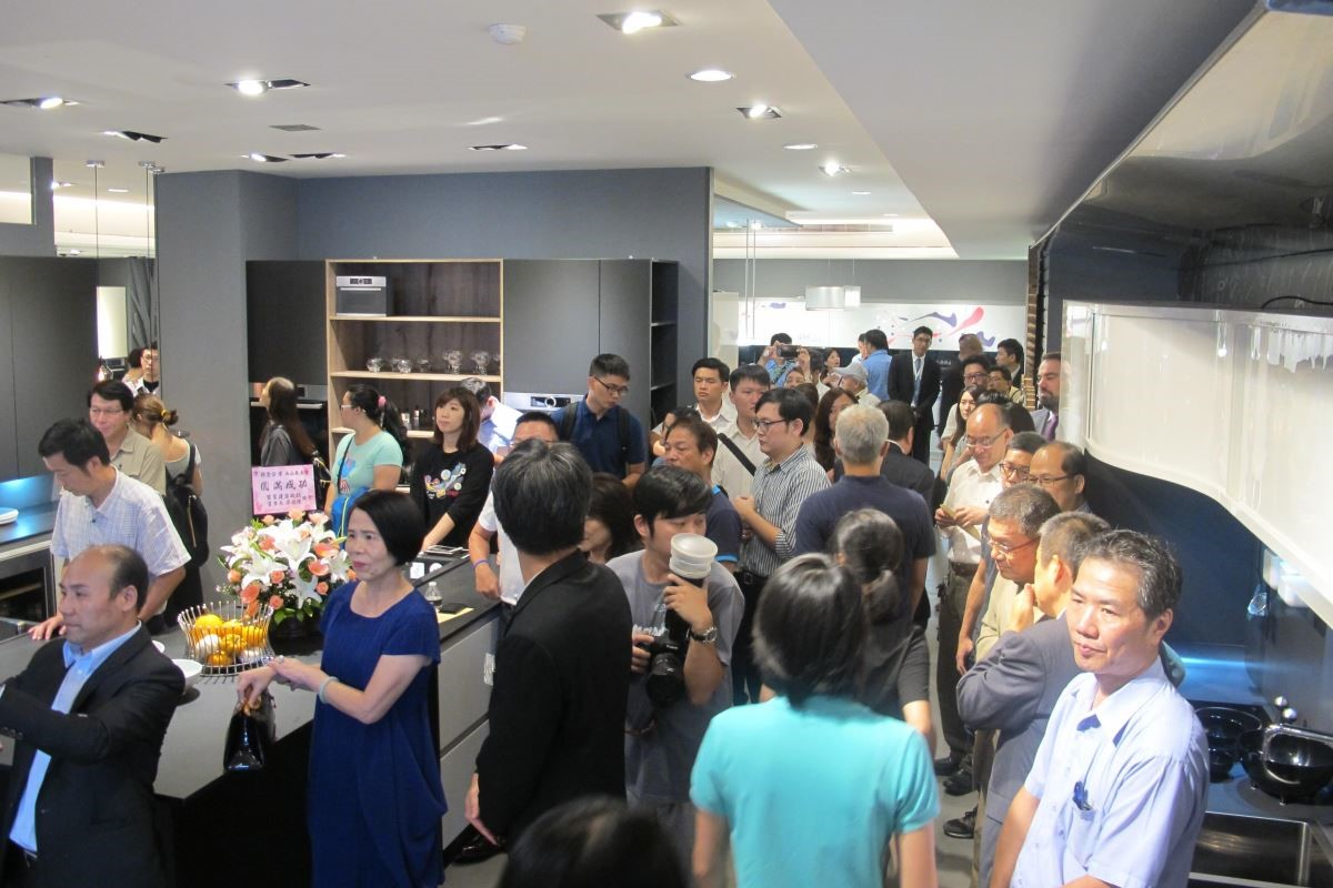 45 周年慶新品發表酒會,現場集結眾多設計師、業者與媒體記者。