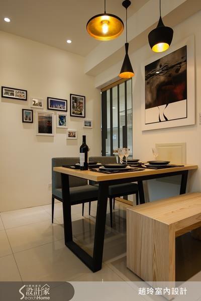 雖實際坪數僅 18 坪,調整客、餐廳比例,並搭配 Deco 技巧,就能提升用餐質感。