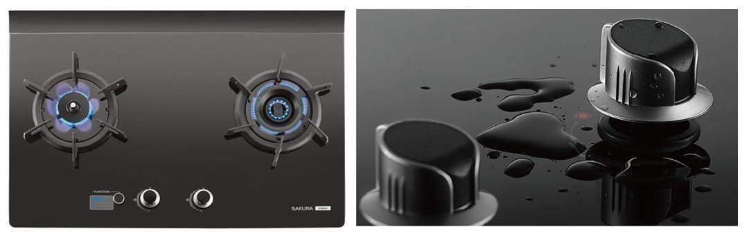 靚黑鏡面內斂質感,結合易清潔防水設計,廚房美型更精緻。