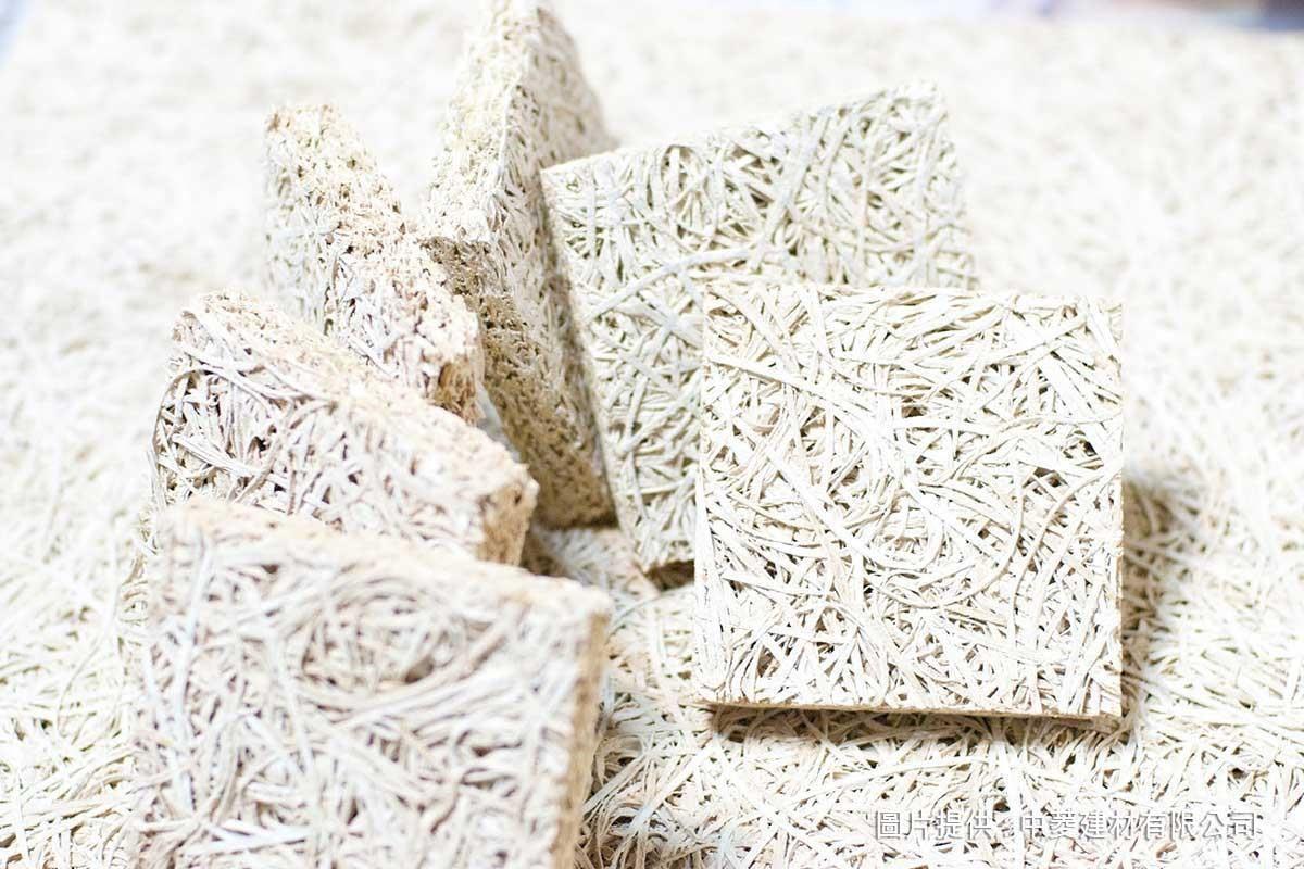 由天然素材組合而成的鑽泥板,同時具備木質的溫暖與水泥的堅固耐用。
