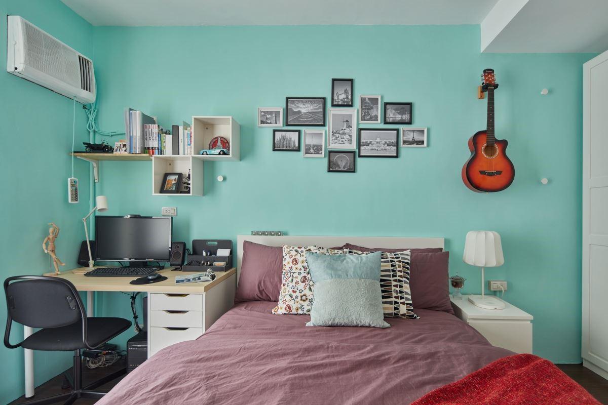 從小到大,使用了 35 年老舊臥室變身新婚房,譜寫兩人甜蜜戀曲。