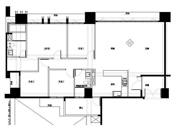 平面圖提供_陶璽空間設計。
