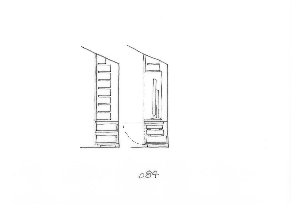 收納櫃的開啟方式是隨著放入物品的不同,可以任意更換的設計