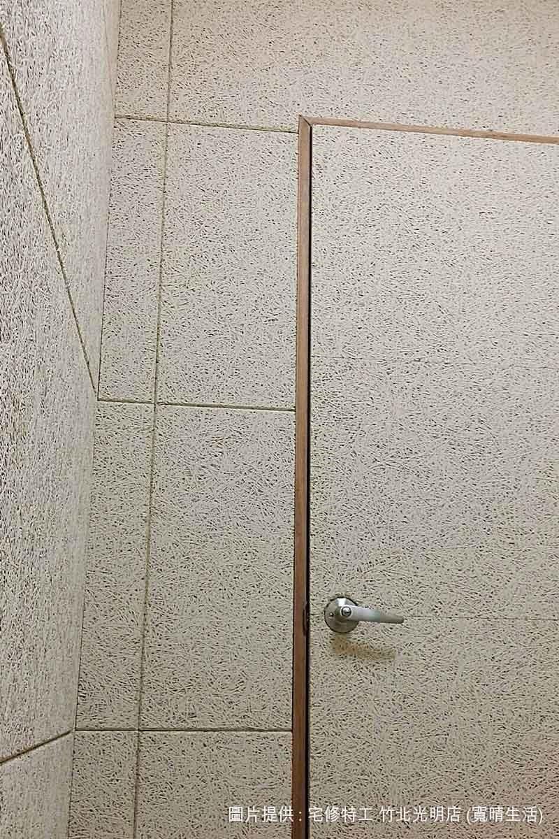 用美絲板打造的牆面、門片,就算經常觸摸也不怕出現髒汙、落塵或脆化掉屑的狀況。