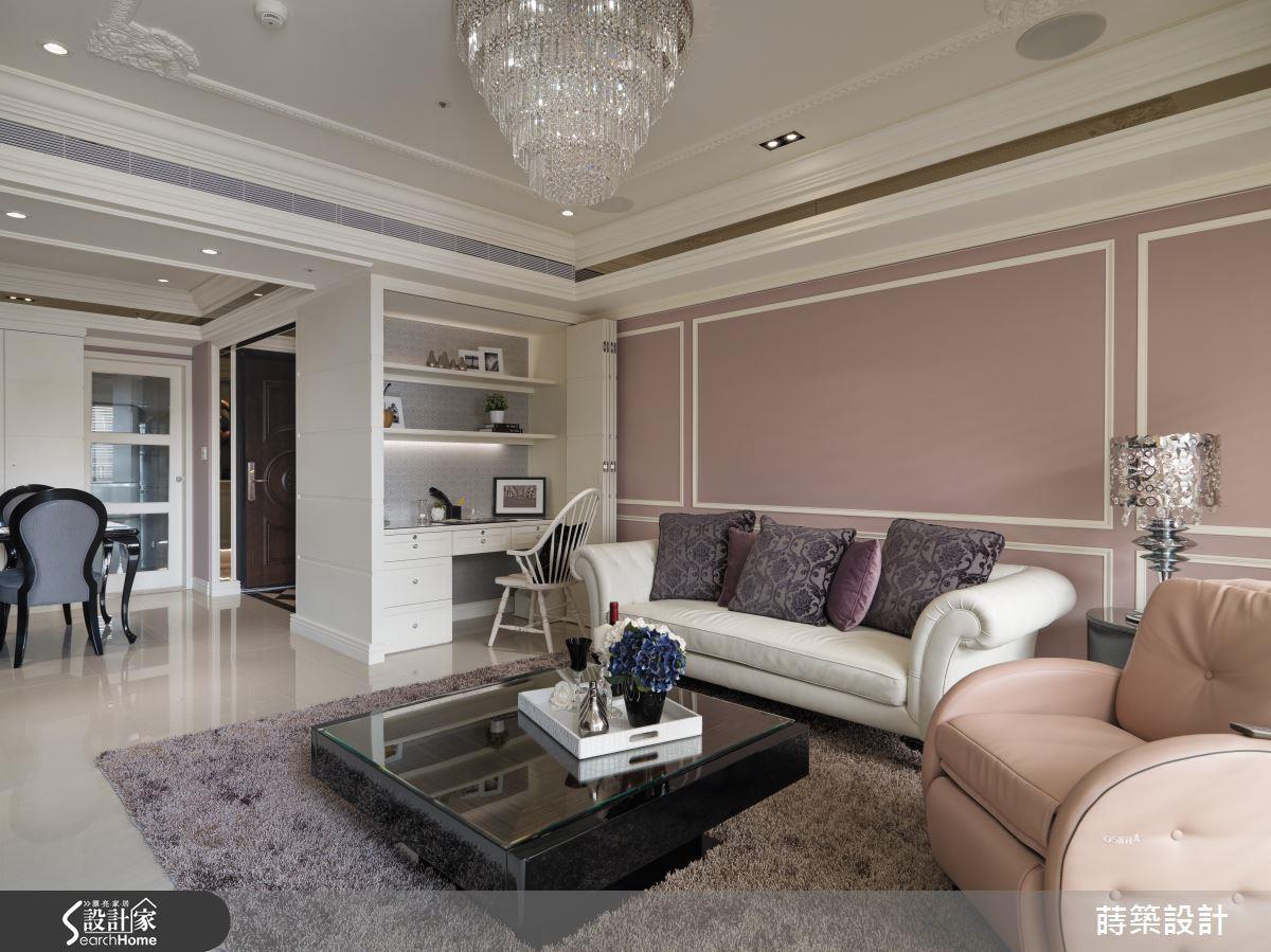 不只粉紅色的牆面,也可以利用粉紅色點綴軟件、家具,也能有同樣的效果。