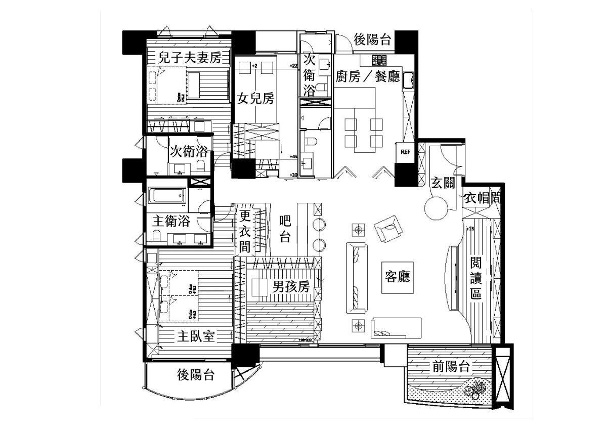 平面圖提供_趙玲室內設計。