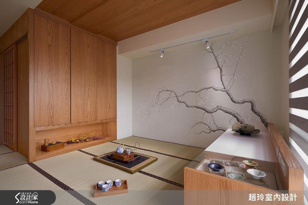 私領域空間則展現家人各自的魅力。女兒房是素雅的日式風格,架高的榻榻米下有充足的收納空間。