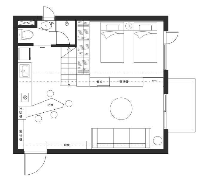 平面圖提供_ 瓦悅設計