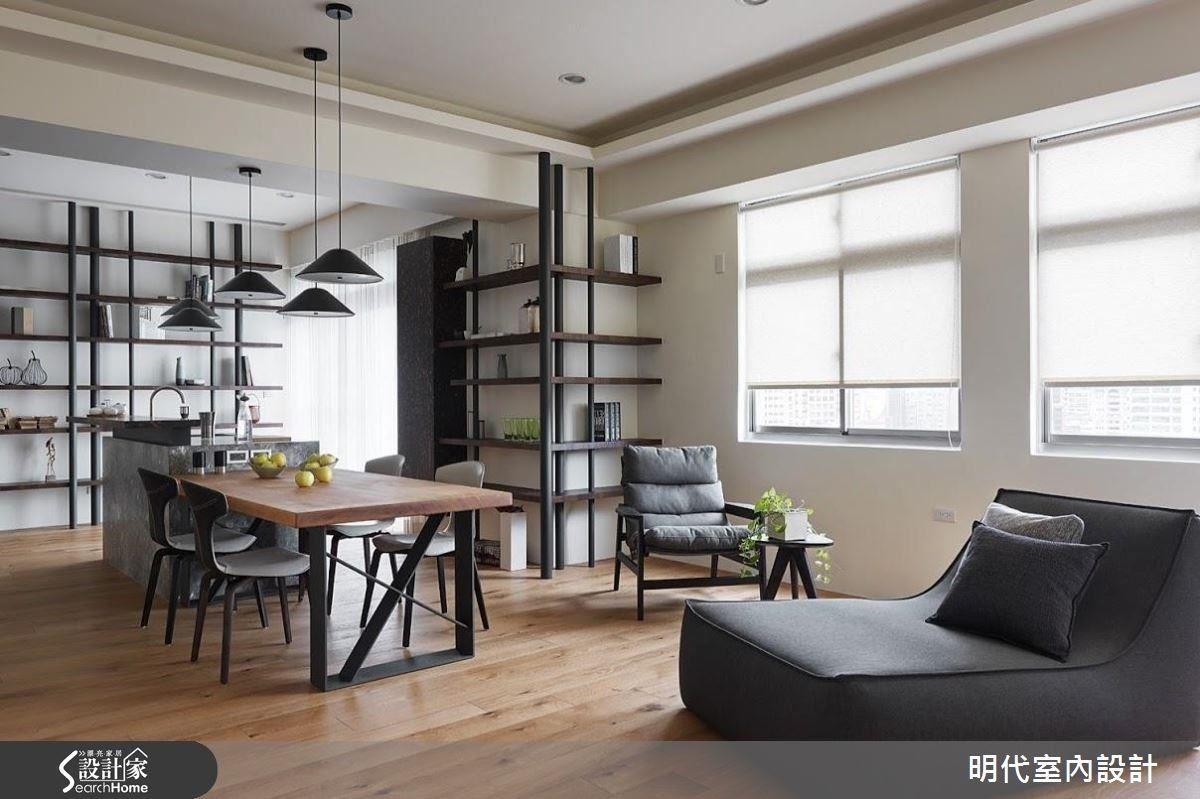 明代室內設計團隊打破過去對於居家空間的既定印象,大膽嘗試以中島破題,把家還原至生活的本質。