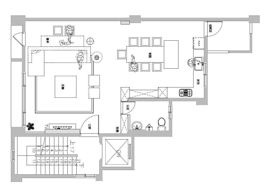 平面圖提供_蒔築設計_ 2F。