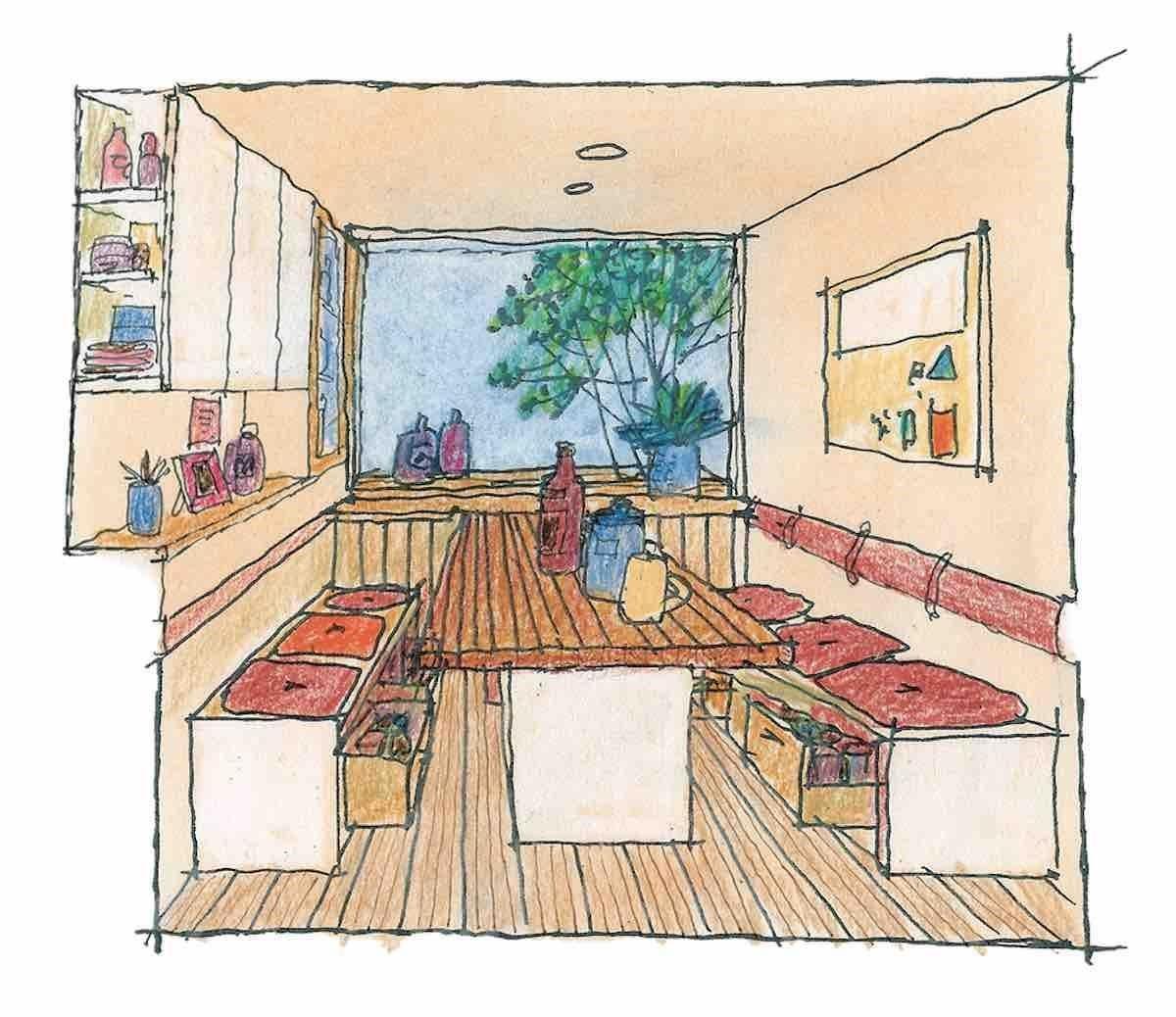 用餐室-透視圖  圖片提供_漂亮家居麥浩斯