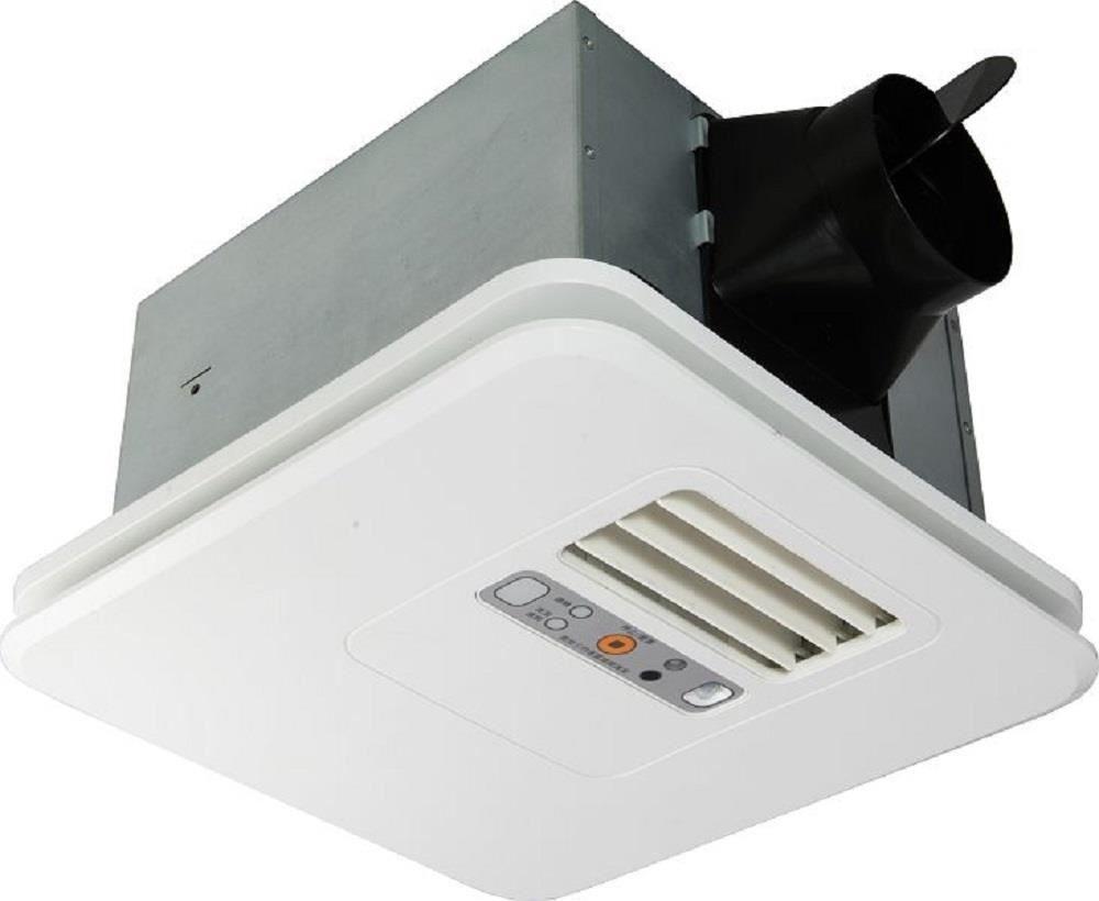 暖風機提供換氣、乾燥、涼風與暖房 4 種功能,滿足衛浴空間的各種需求。(台達電-豪華型 300 系列)