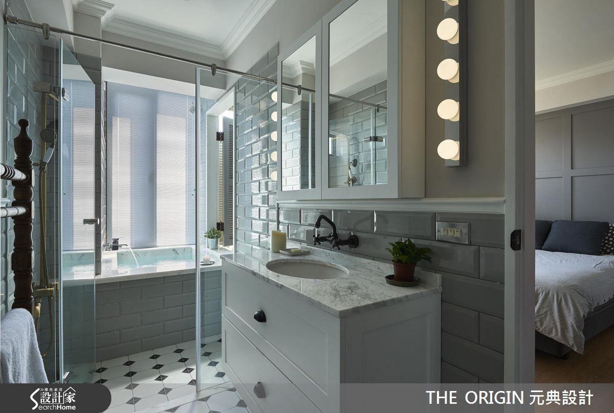 除了舒適的泡澡空間外,盥洗梳妝區也十分時尚,打造出巨星般的氣場。