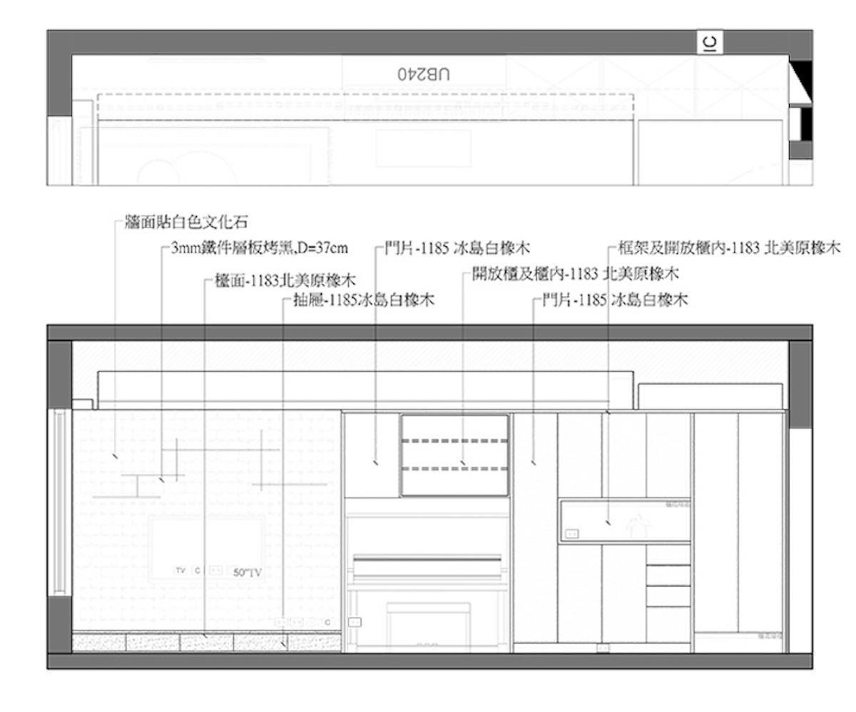 依據收納物件安排不同深淺尺寸的櫃體形式,避免空間顯得狹隘。 白橡木收納櫃體即使龐大也不顯擁擠,並運用鏡面擴大視覺效果。 圖片提供_雲司國際設計