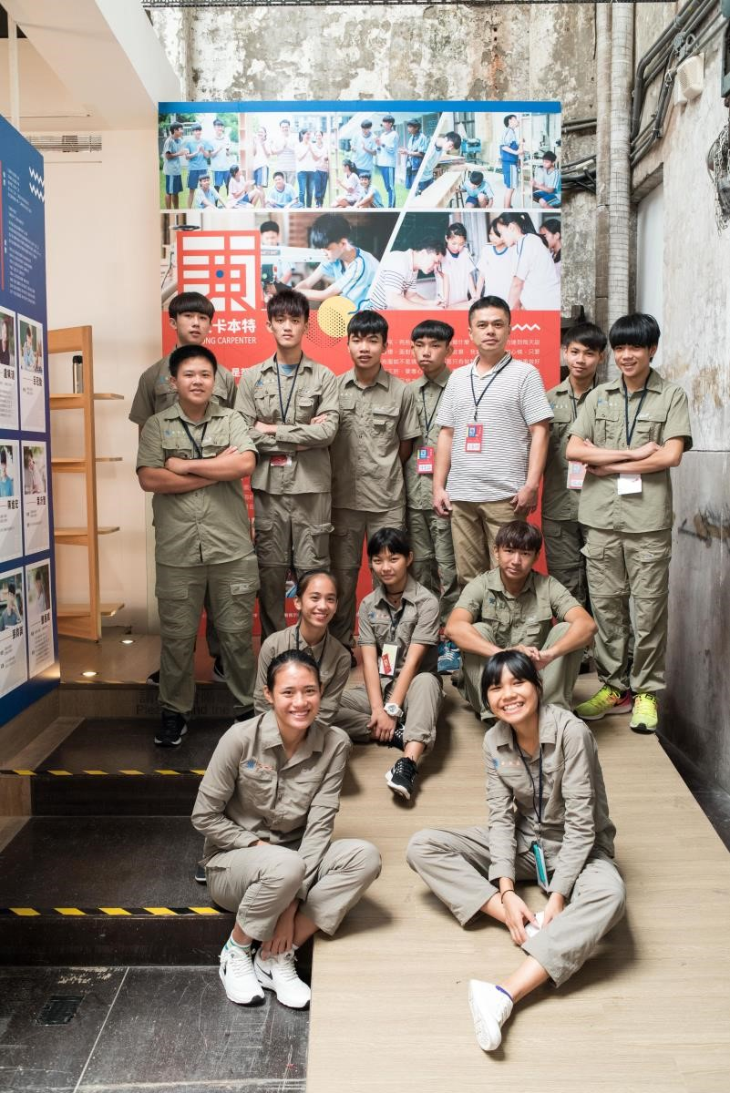 由王嘉納老師帶領,玉東國中木工班9年級的同學在華山舉辦展覽。