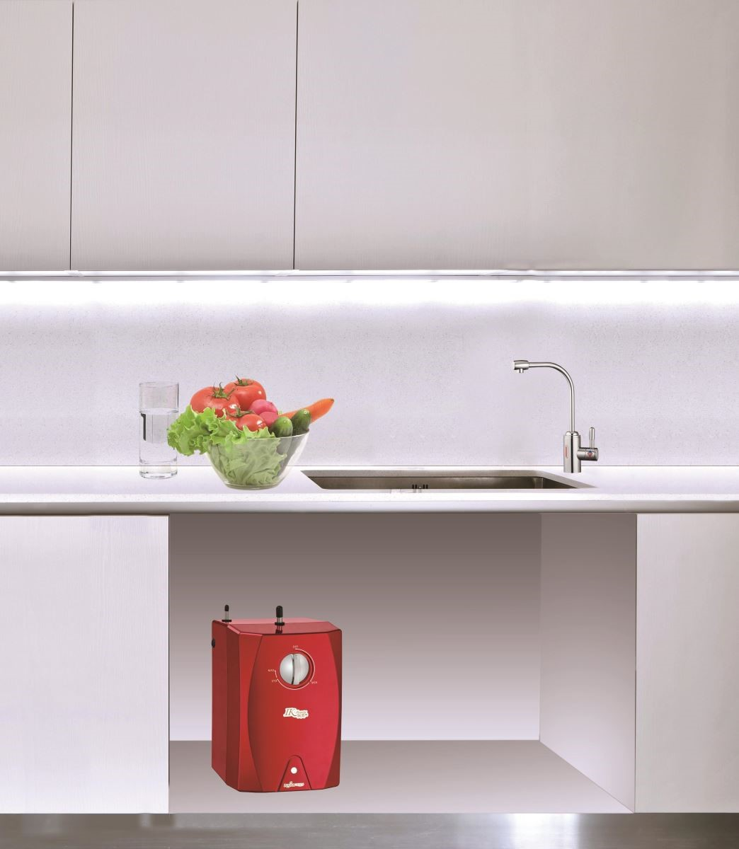 (此為3D示意圖)精緻的機身可收納在洗手台下方,不用擔心佔據檯面空間,且滿足生活的多元使用。