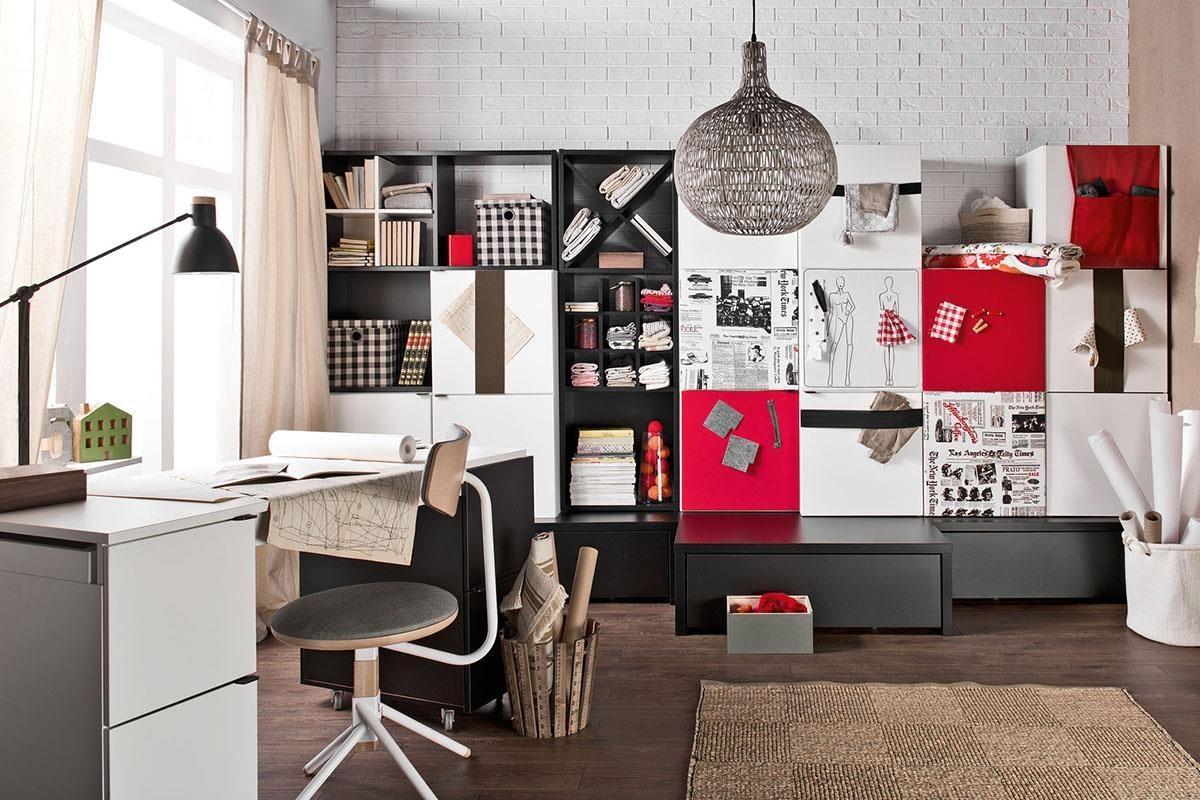 以 Young User 系列打造的成熟女孩工作室,活潑的色塊組合不僅設計感鮮明,也展現專業度。