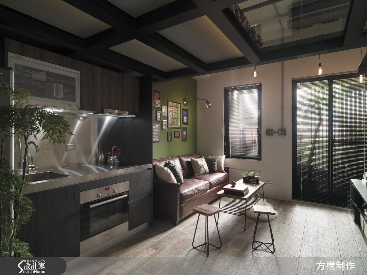 7坪套房除了按照典型動線安排,明度充足的照明設備也是維持烹飪安全的必要條件。