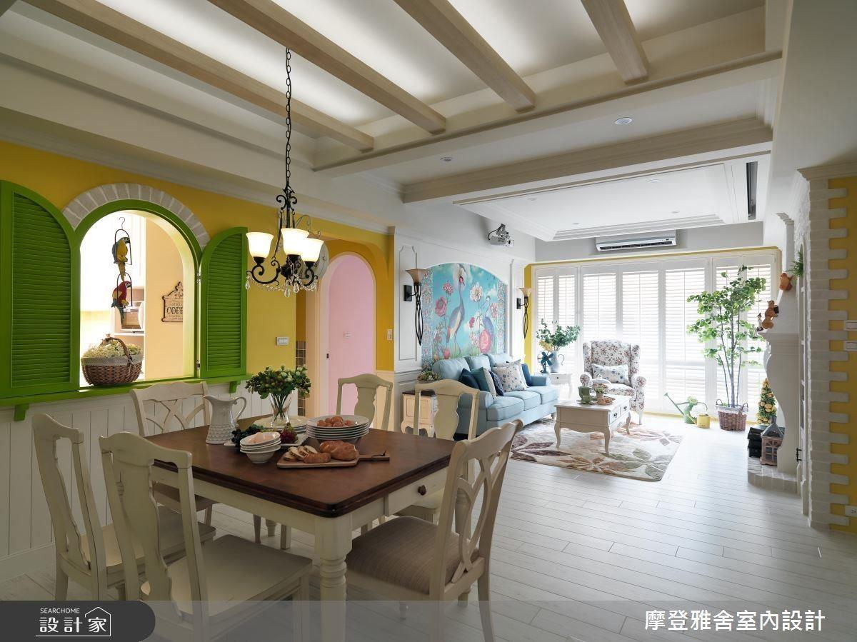開放式客餐廳,為好客的一家人迎來最寬敞開闊的聚會場域。