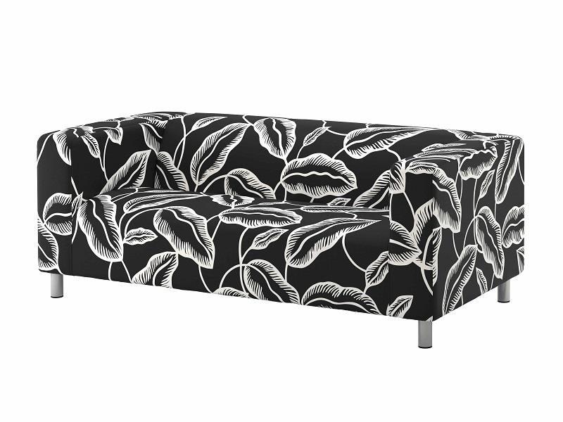 KLIPPAN雙人座沙發Avsiktlig白色/黑色(原價$7,990;再創低價$6,990;降幅12%) 非常舒適,適合擺放在任何地方。圖片提供_IKEA