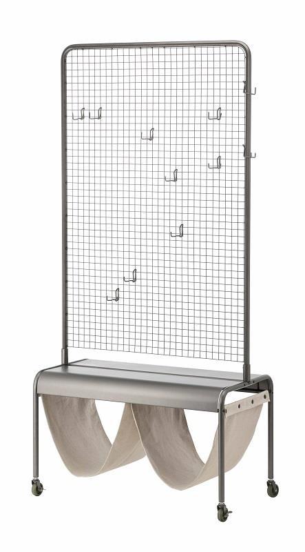 另外還有結合金屬與布面材質的VEBERÖD系列,包含隔間屏風、層架組與長凳,讓人輕鬆打造屬於自己特有的工業風居家。圖片提供_IKEA