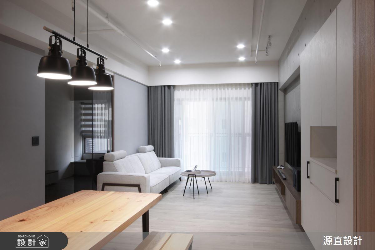建議家具、油漆以黑白灰三色為主,搭配色調輕淺的木地板與櫃體,就能打造日系無印風。