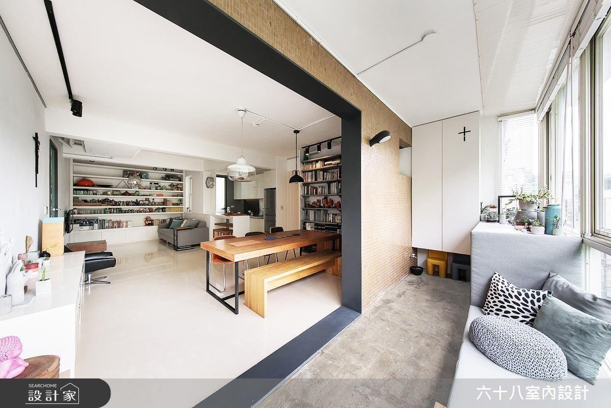 如果戶外風景不錯,考慮玄關設計時,也可以將玄關穿鞋區打造成休憩臥榻區。