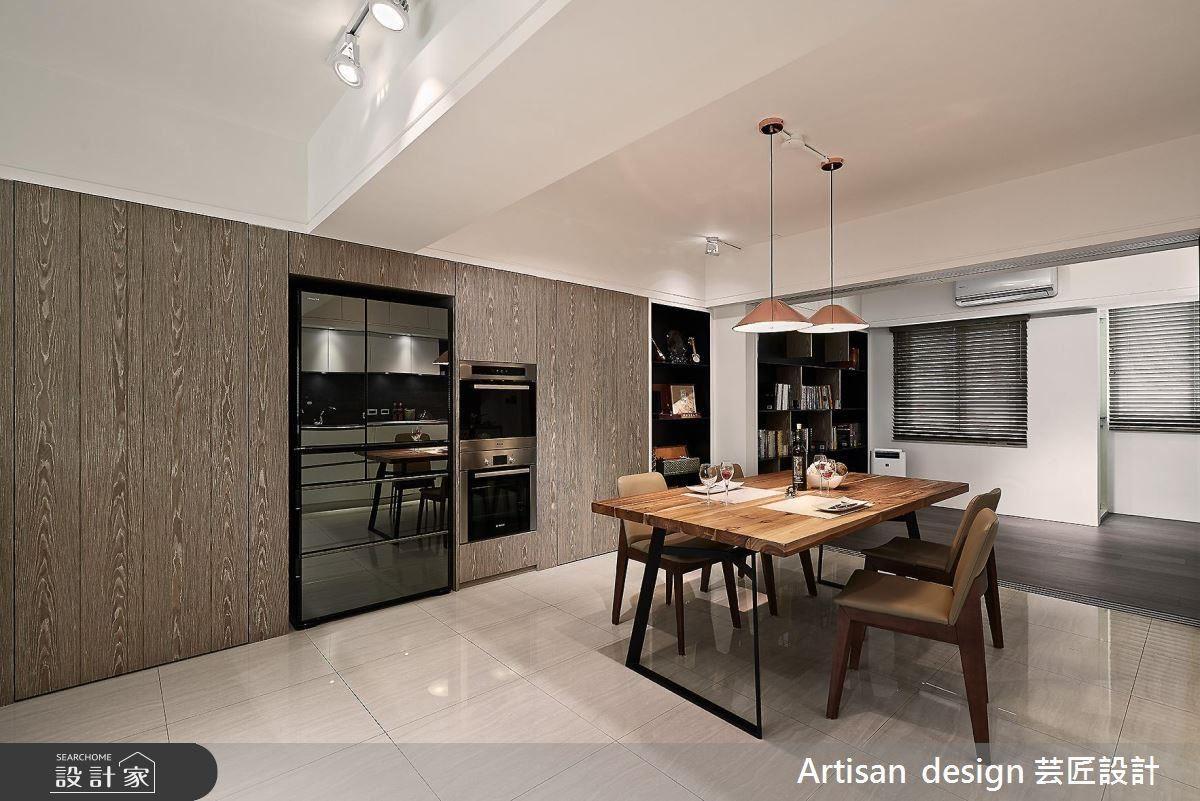 打通客餐廚與書房格局動線,以開放式設計,帶出空間的明亮寬敞與舒適性。