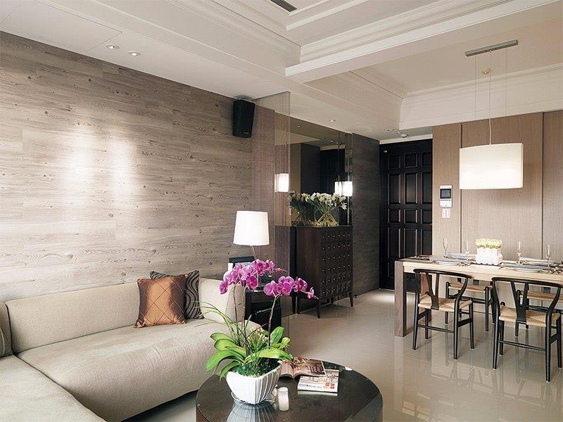 PVC 用途多元,不只能用於地面,用於牆面更能彰顯PVC 不怕髒的優點。圖片提供_演拓設計