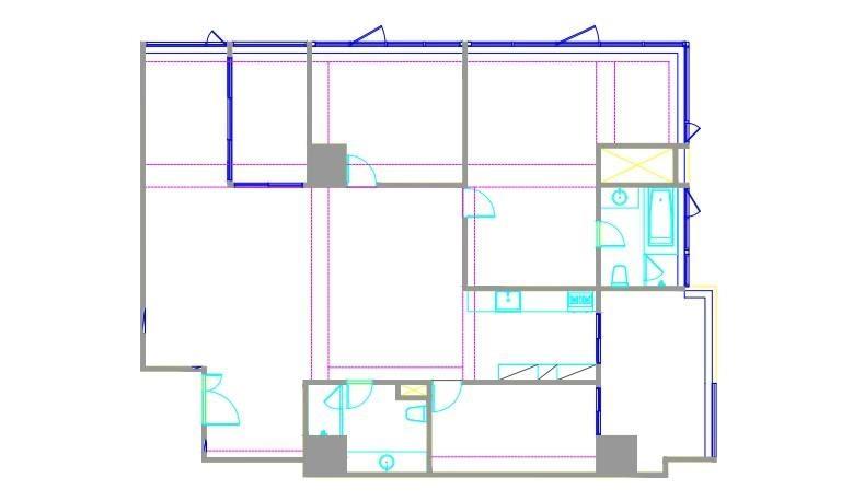 柯以柔購置的 50 坪中古屋屋況優良,唯有格局需要微調,同時解決原先線材受損問題。