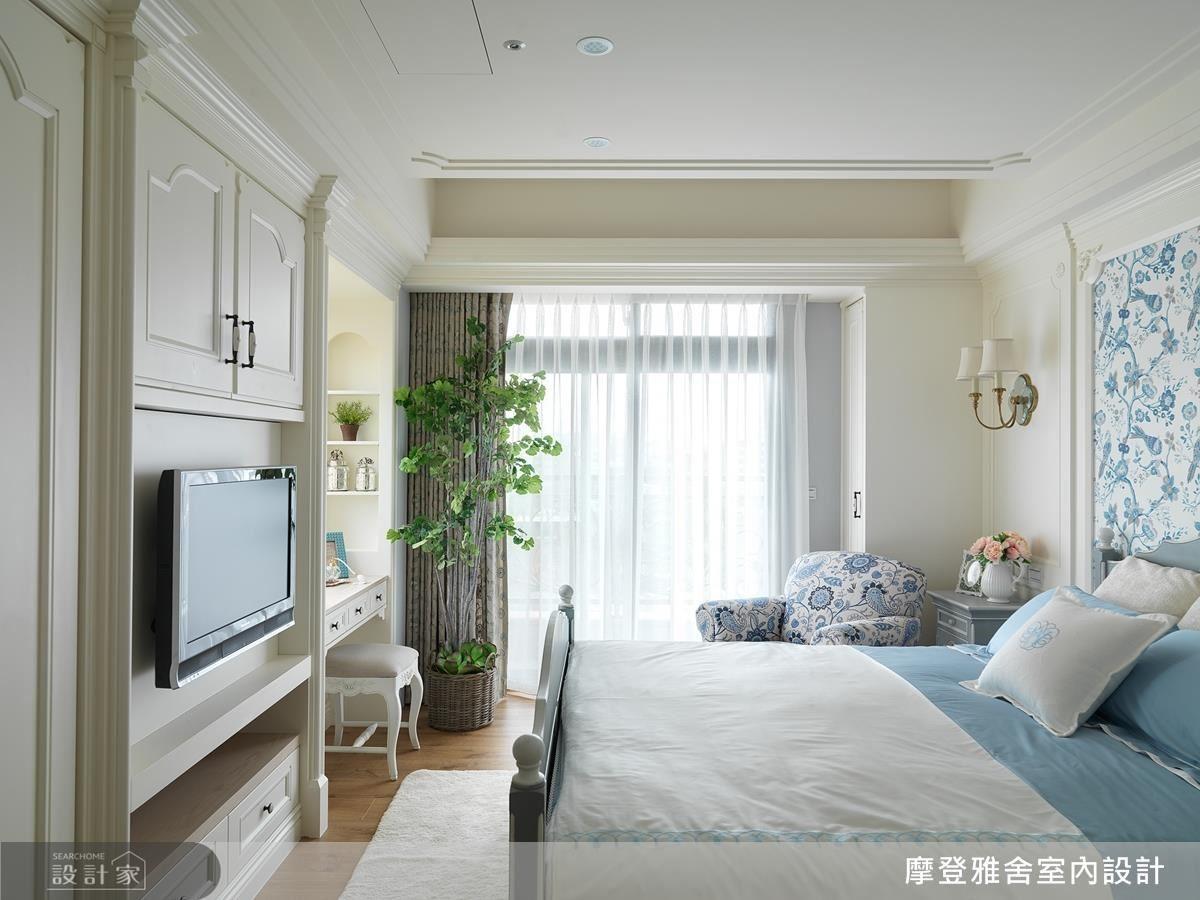 以色彩和壁紙的搭配,為不同居住者訂定臥房主題。