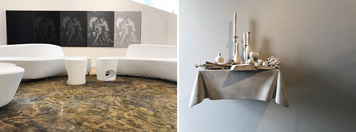 在 AkzoNoble 最新總部裡,透過藝術的展示與陳列,對應色彩與空間的關係。