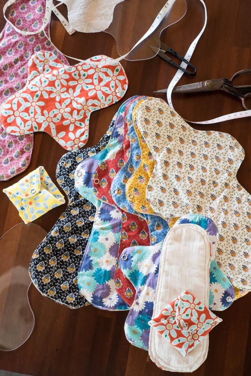 山米製作的布衛生棉也可以因應個人喜好或需求,更換材質,例如:可以換成有機棉胚布。