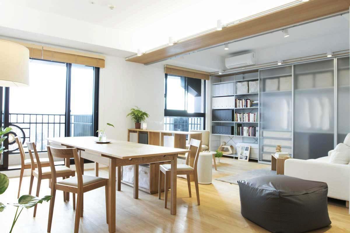 搭配適切的收納家具,充分利用各個空間。圖片提供_MUJI無印良品