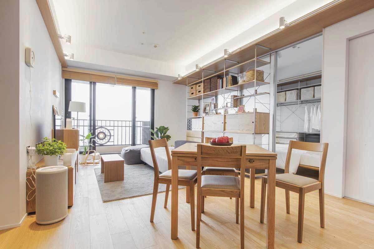 活用家具作為隔間,界定不同的使用方式。圖片提供_MUJI無印良品
