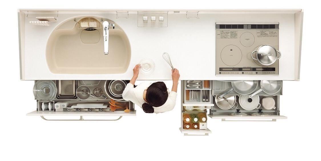 廚櫃下方收納區也可依照個人需求搭配五金,包括鍋碗瓢盆分別精準收納。(圖片提供_TOCLAS 昰品名廚)