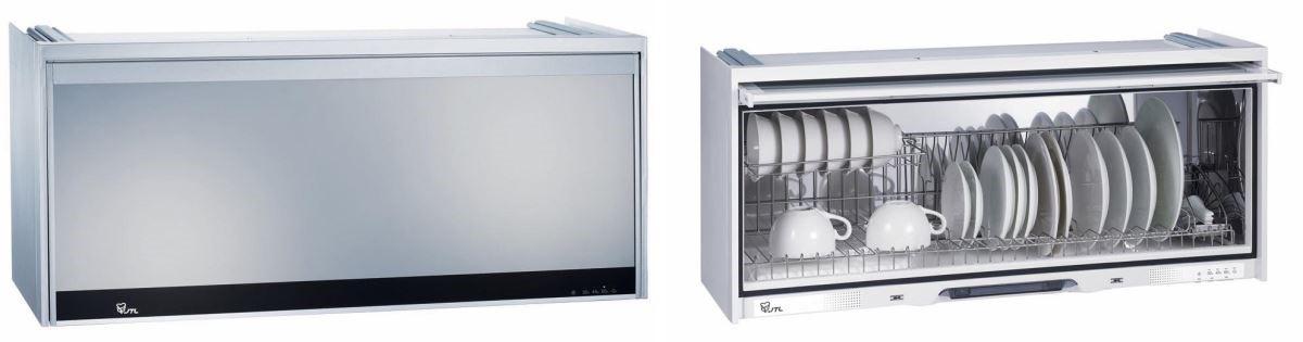 烘碗機不僅能達到殺菌效果,也可以提供充裕的收納機能,是小坪數廚房的好幫手!(圖片提供_喜特麗廚具)