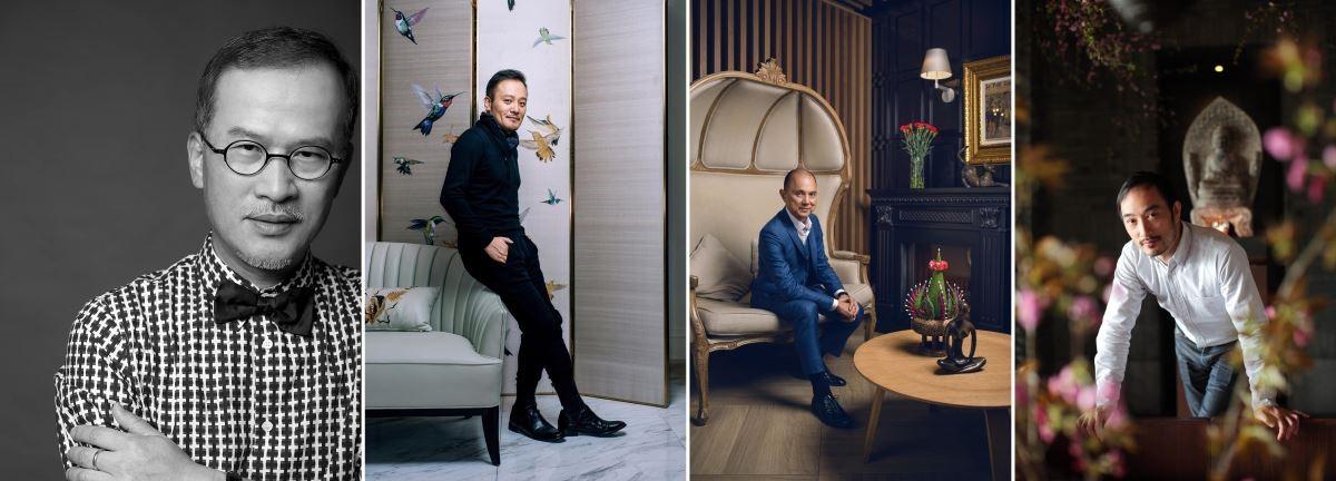 (左起)_知名設計師邱德光、吳濱、時尚大師馬來西亞 Jimmy Choo周仰傑、花藝大師凌宗湧