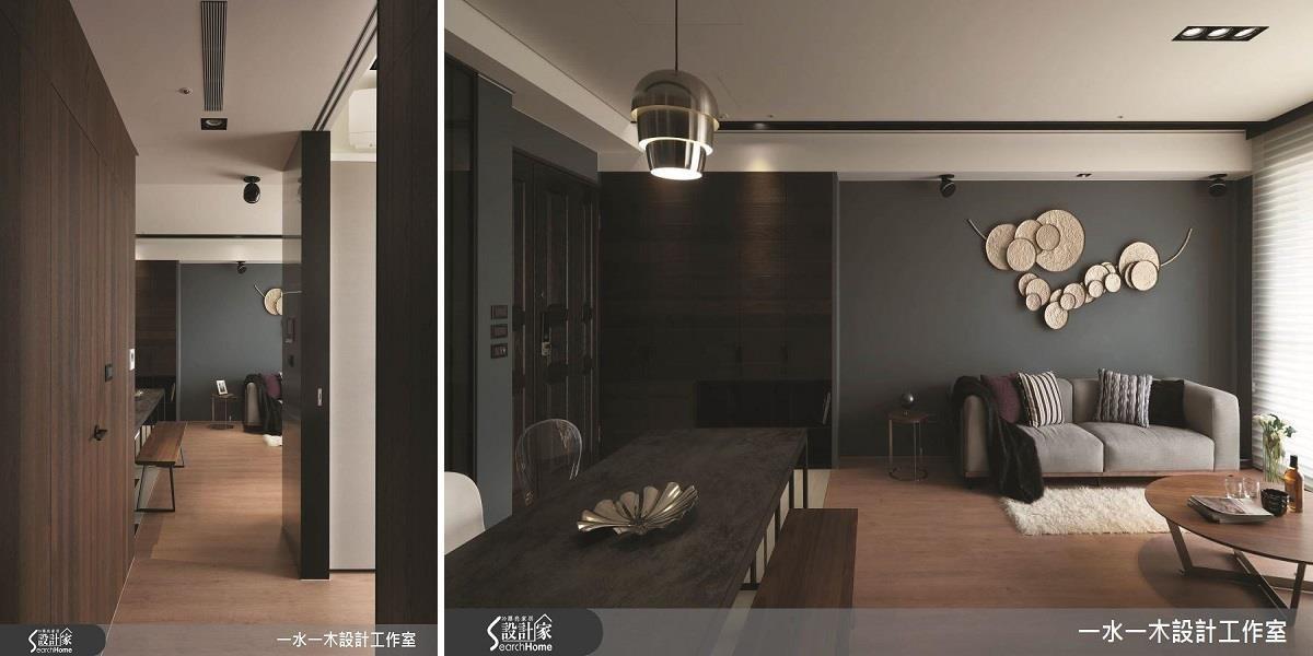 機檯安排在廊道中間,以不阻礙視覺動線為重點。 >> 點這裡看完整圖庫