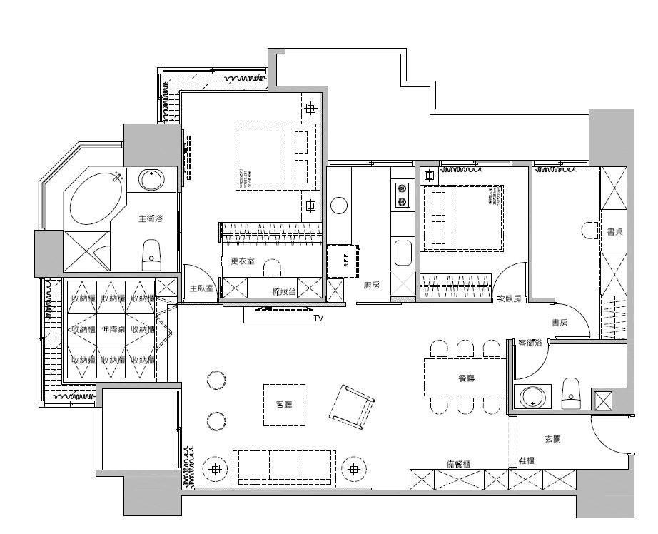 平面圖提供_蒔築設計。