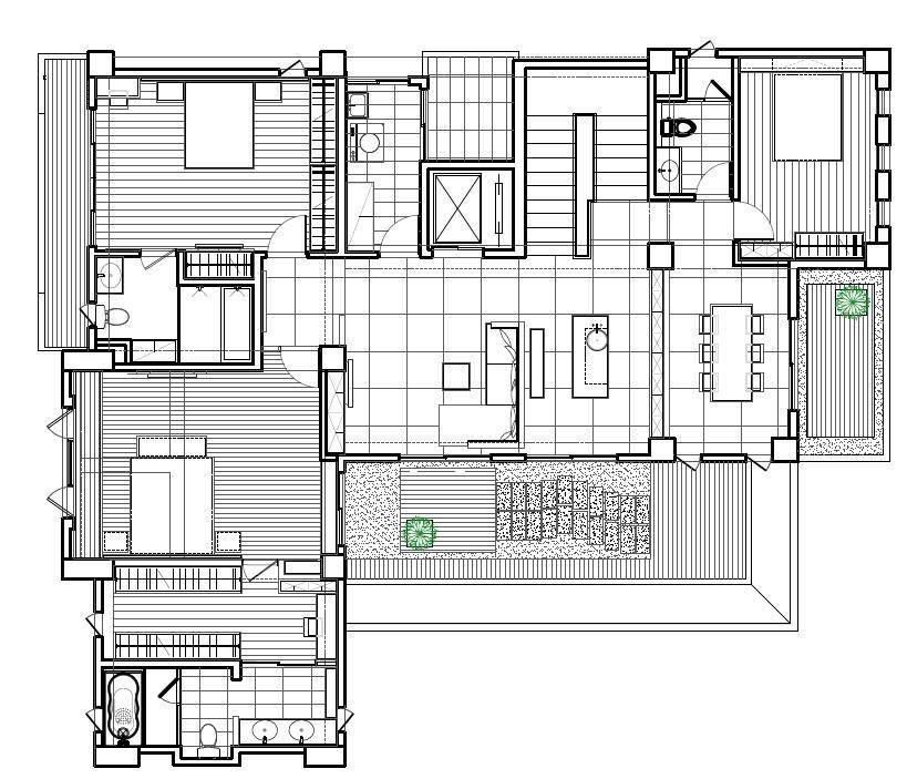二樓平面圖提供_震騰室內裝修設計。