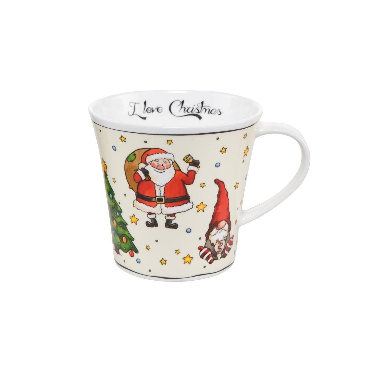 聖誕節氛圍的馬克杯,很適合盛裝hygge生活態度中必備的熱紅酒。(圖片提供_集雅廊)