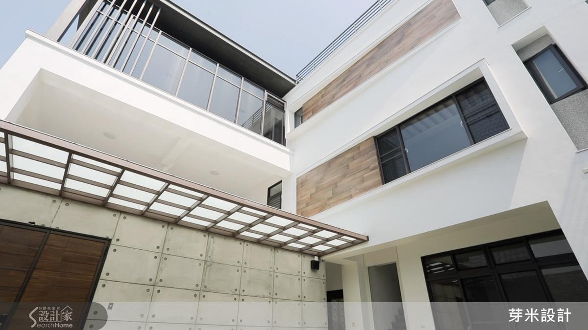 以 L 型建物蓋法,依照日晒角度調整室內格局配置,給居住者舒適的生活空間。
