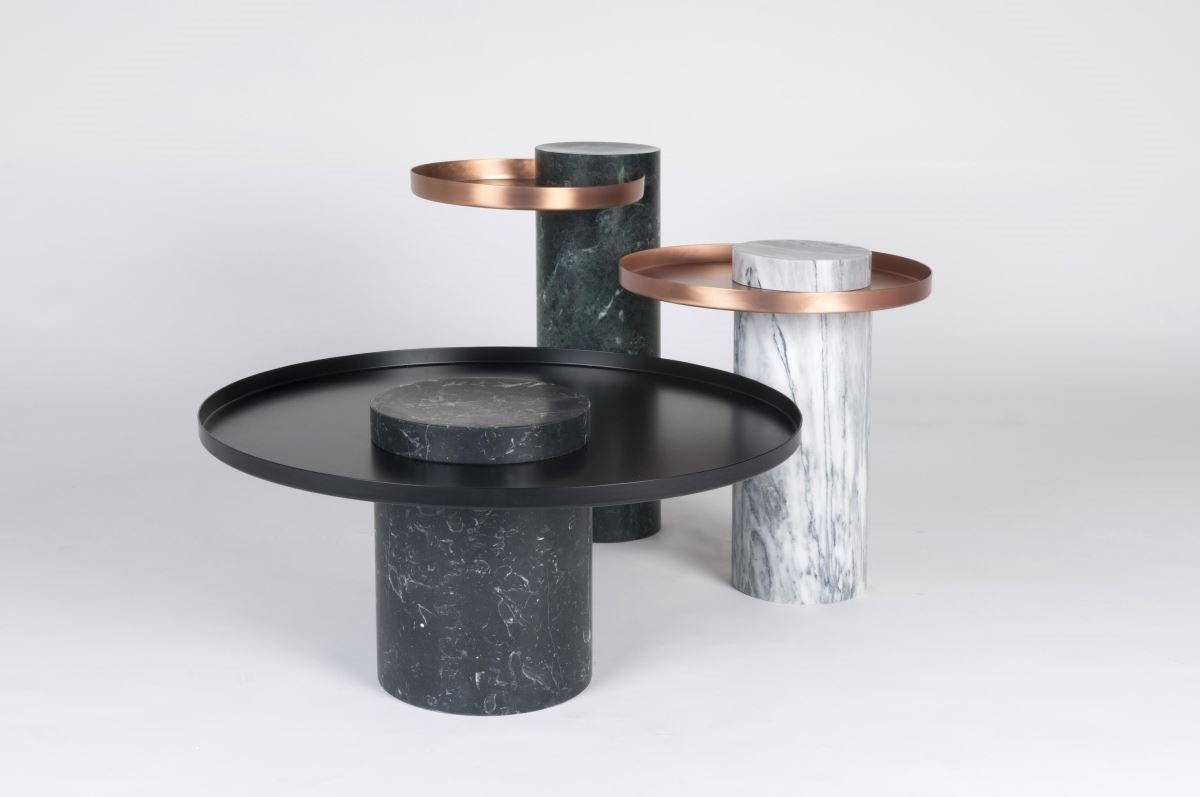 Salute。混合大理石與金屬結構,搭配典雅線條設計,塑造不凡居家品味。