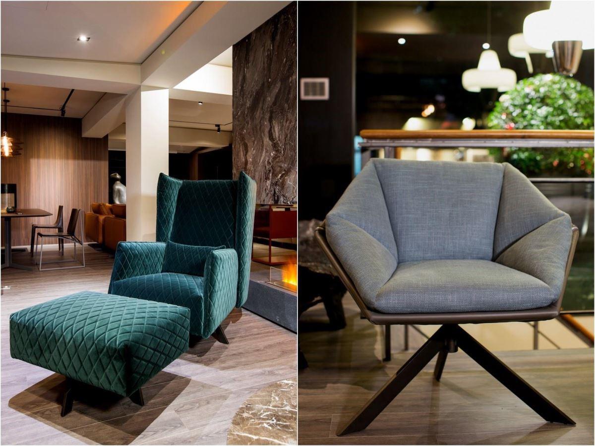 左_ ANN 扶手椅、右_ GRACE 扶手椅。