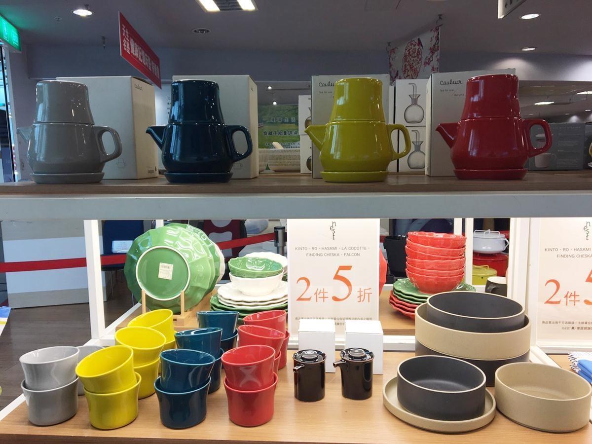 日本居家品牌KINTO(左)、日式質樸的HASAMI餐盤器皿(右),全面2件5折