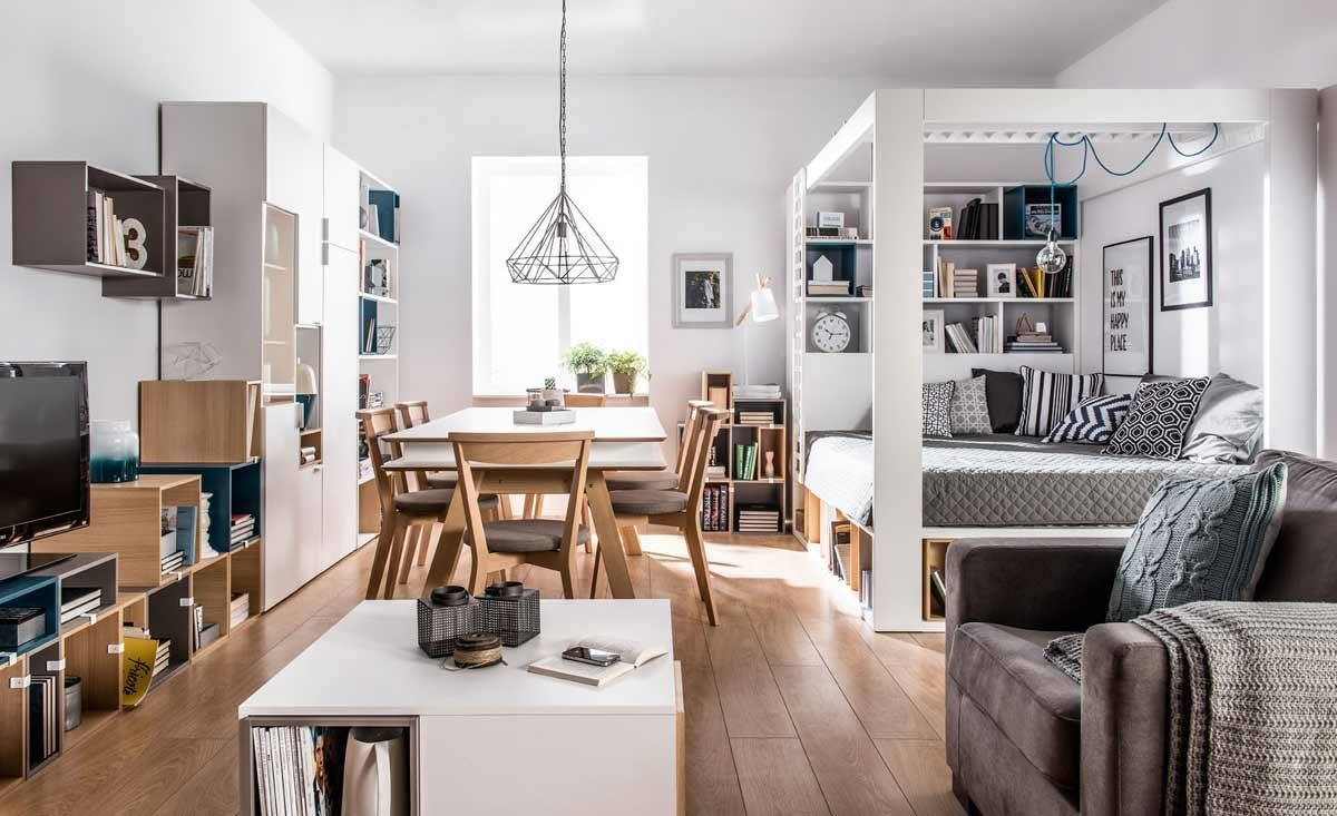 4 YOU 系列收納木箱,可以平放展示或堆疊成小型儲物櫃,也可以與同系列櫥櫃、四柱床組等家具相結合,營造隨興繽紛的居家氛圍。