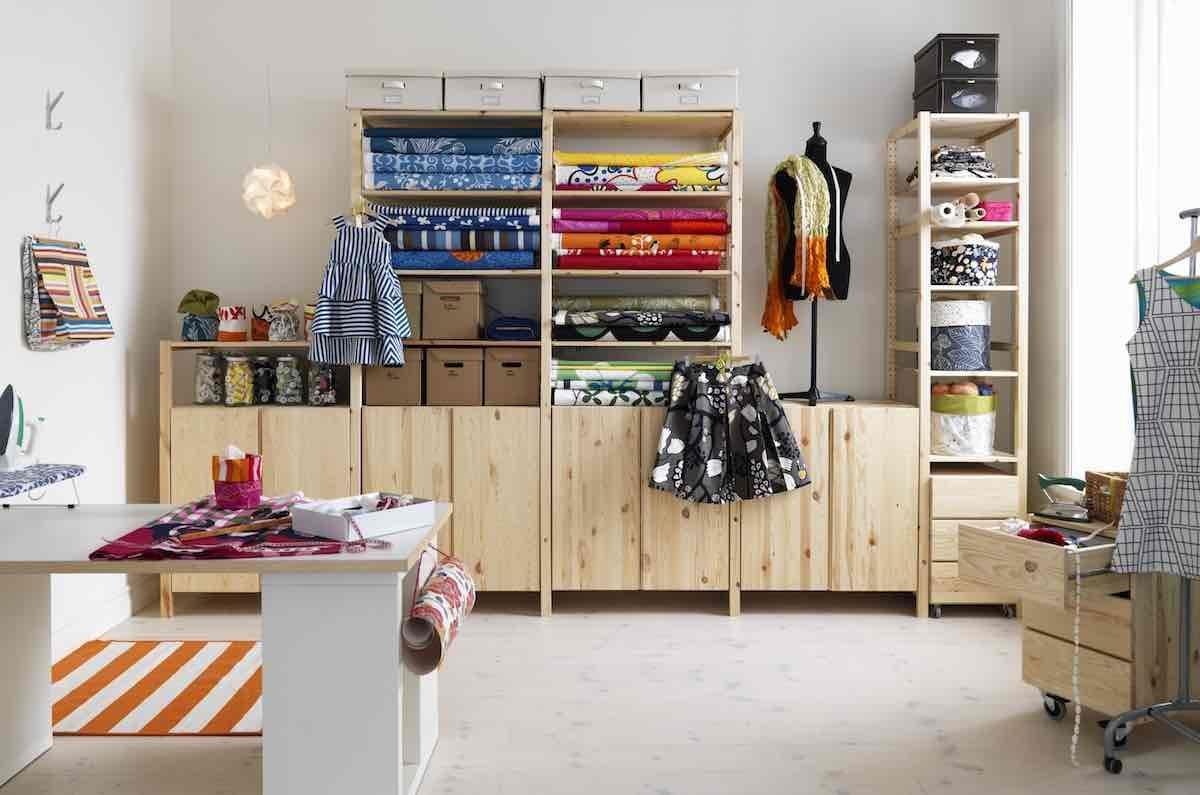 IVAR適用於不同的生活空間,它擁有放在任何角落、牆面的彈性,並可配合牆面長寬高有不同的變化。圖片提供_IKEA