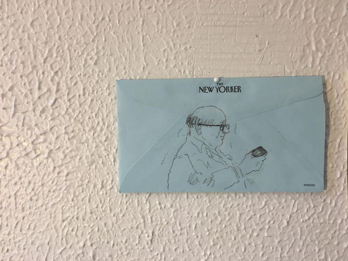 工作室宛如Vita Yang的畫廊,剛畫好的圖她都會貼在牆壁上展示。