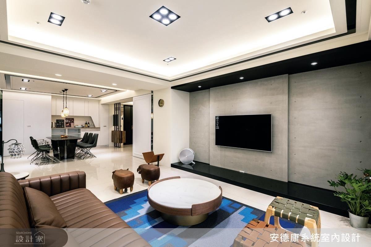 以現代簡約的設計語彙,結合複合機能系統櫥櫃運用,滿足屋主擁有寬敞空間且高收納機能的居家訴求。